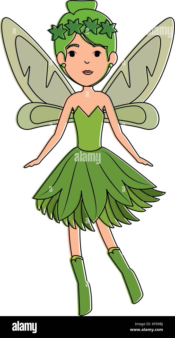 Schönen Fee fliegen Charakter Stockbild