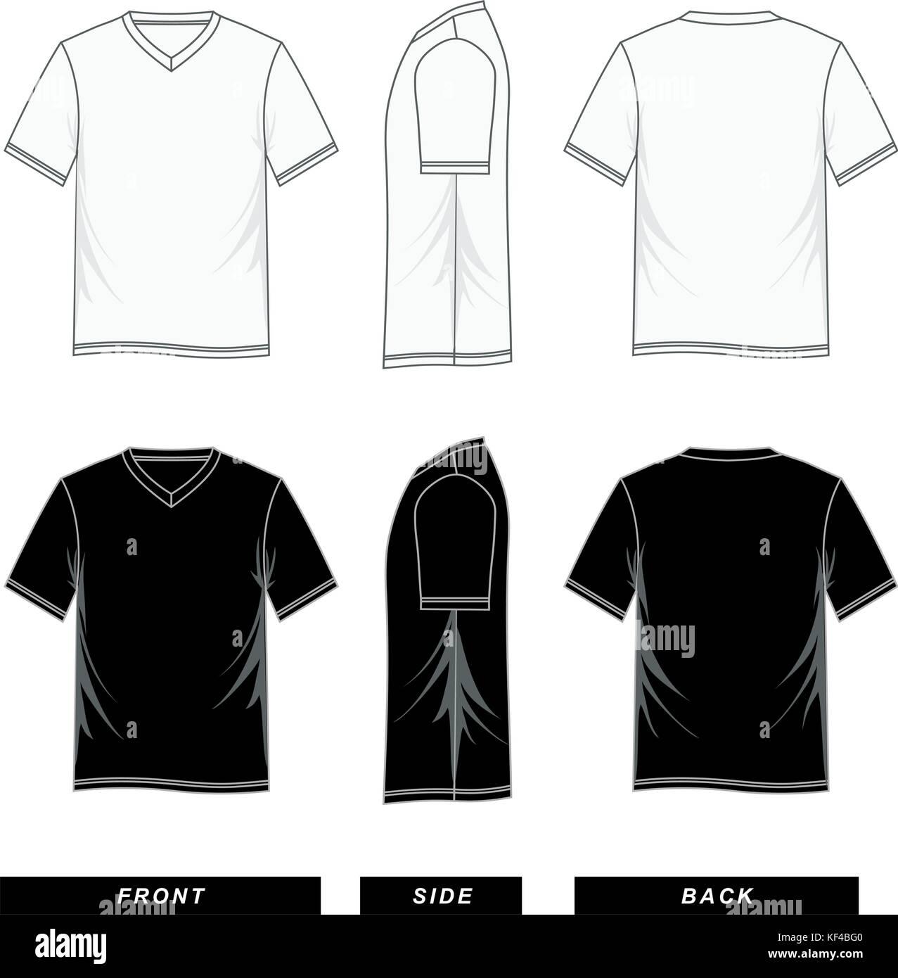T Shirt Short Sleeve v-neck Vorlagen bunt, Männer Mode, Vektor Bild ...
