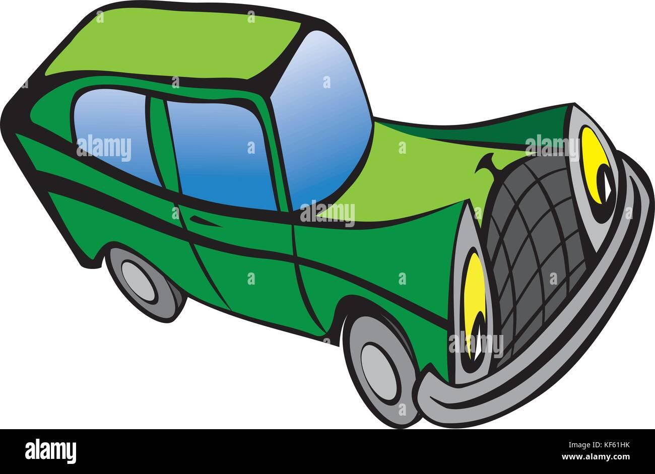 Lustige Alte Auto Cartoon Vektor Abbildung Bild 164246143 Alamy