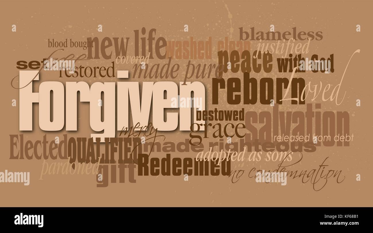 Grafik montage Abbildung: Das christliche Konzept der Vergebung aus ...