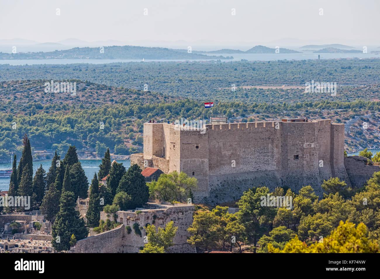 Sibenik st. michael Festung Stockbild