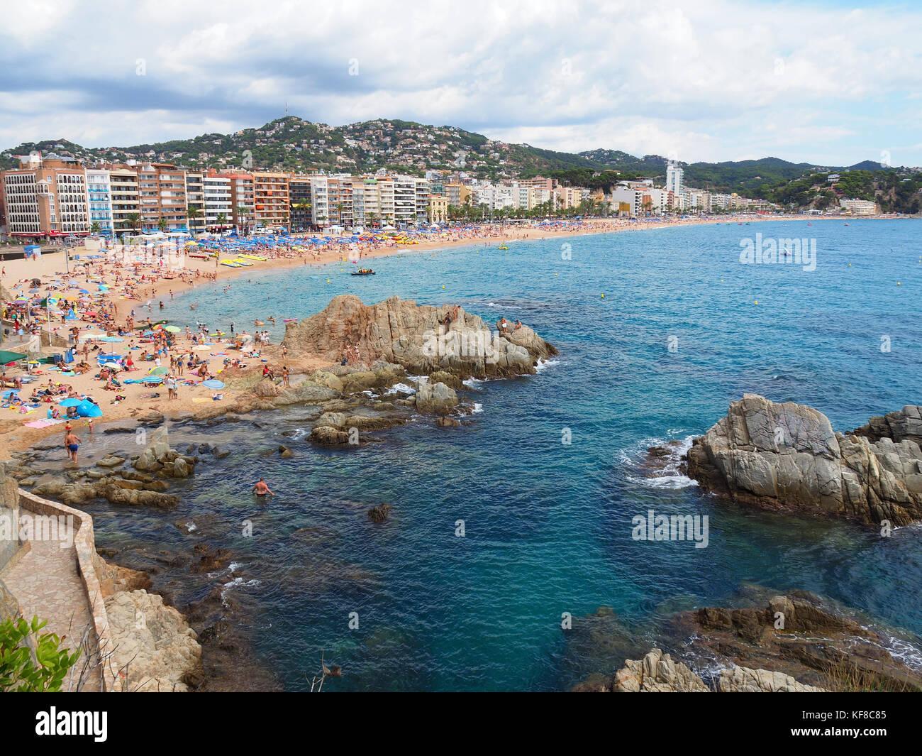 Landschaft Der Strand Von Lloret De Mar Costa Brava Girona