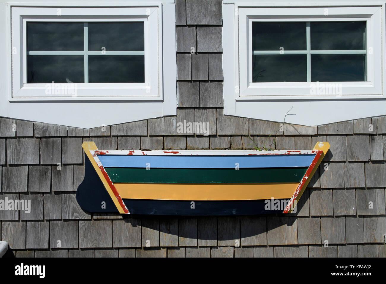 Eine schrullige Fassade eines Cape Cod shack mit Verwitterten ...