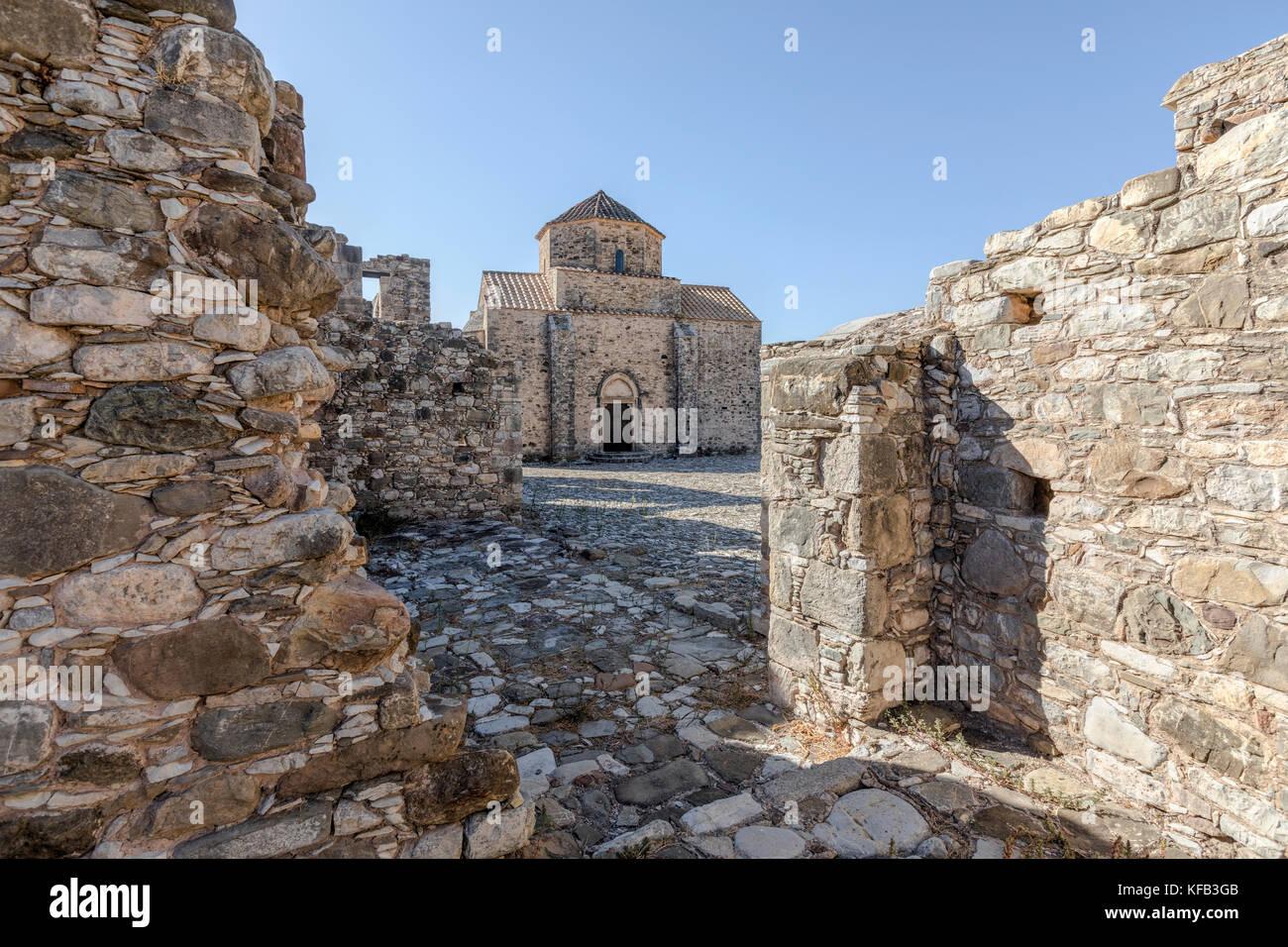 Das Kloster Panagia tou Sinti, Paphos, Zypern Stockbild