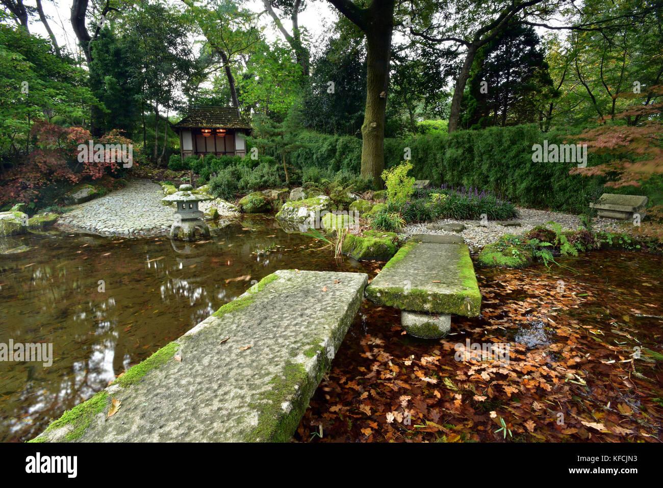 Einen schönen Garten im japanischen Stil pinetum Gärten gepflegt in ...