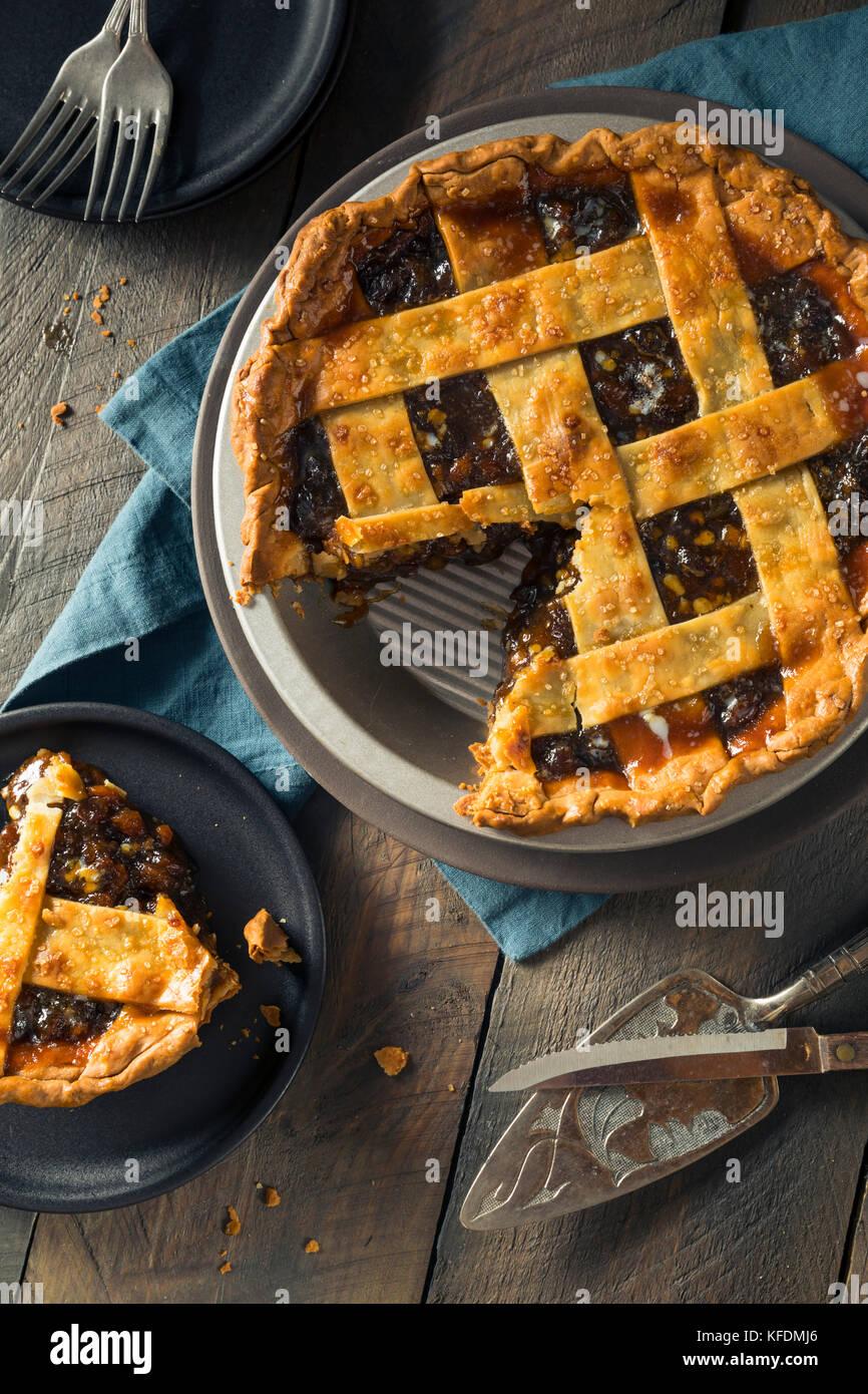 Süße hausgemachte Hackfleisch Torte für die Feiertage Stockfoto