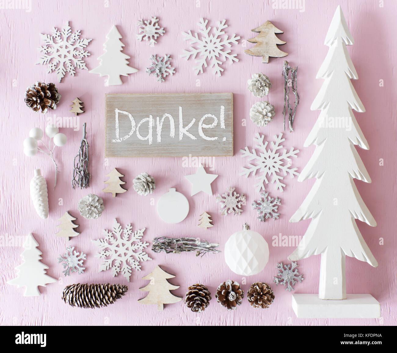 Anmelden mit deutschem Text Danke, Danke. Flach von Weihnachten ...
