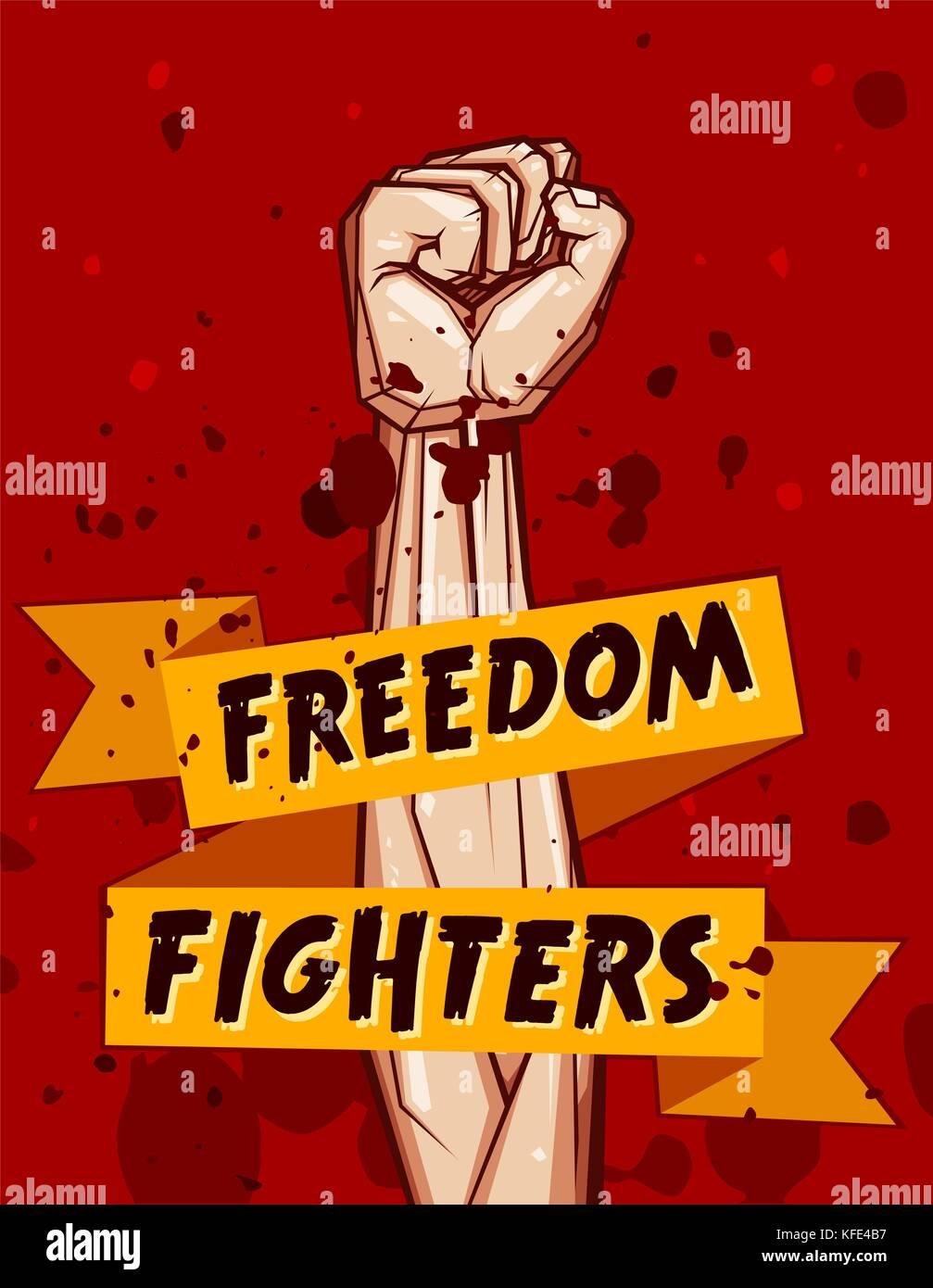 Geballte Faust Vector Illustration für Widerstand und Revolution ...