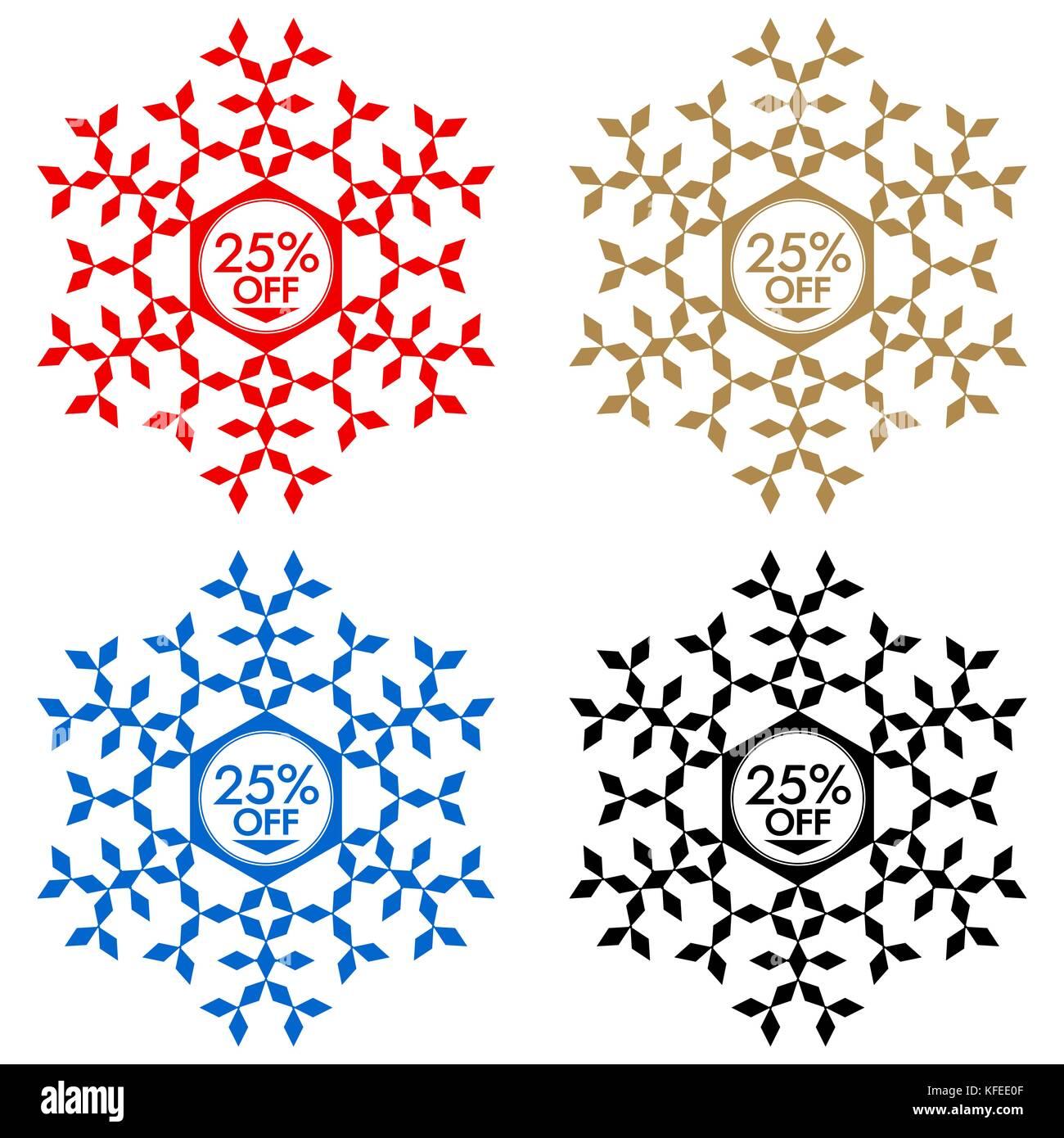 25 Rabatt Aufkleber Schneeflocke Banner Oder Aufkleber Mit
