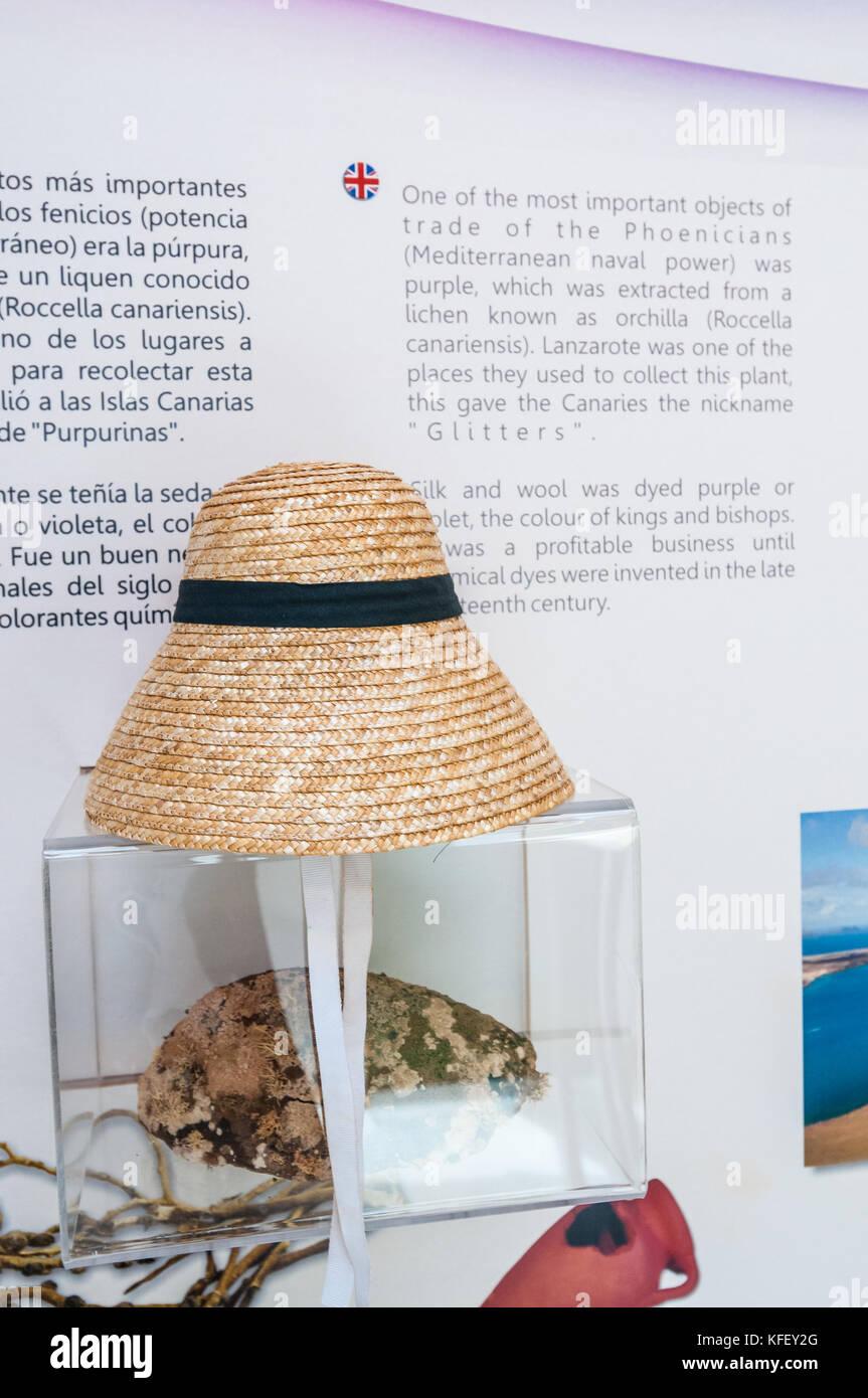 Typische Hut von La Graciosa im Museo Chinijo das kleinste Museum der Welt, Caleta del Sebo, La Graciosa, Kanarische Stockbild