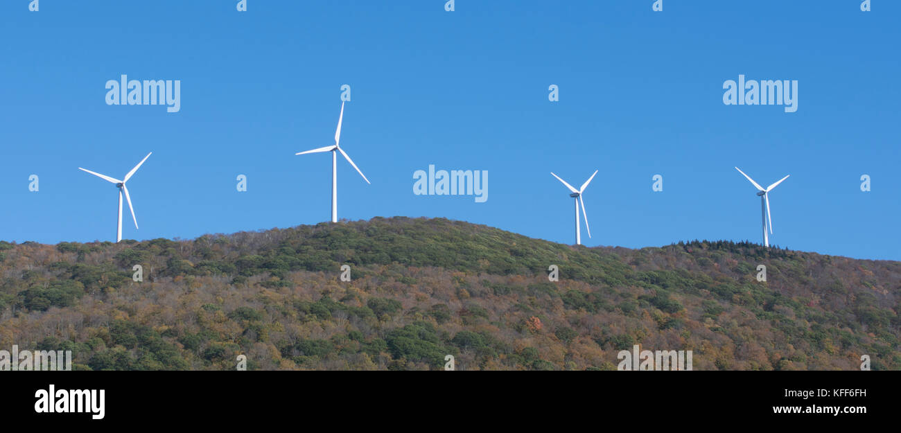 Mountain Top wind Generation im westlichen Massachusetts, USA Stockbild