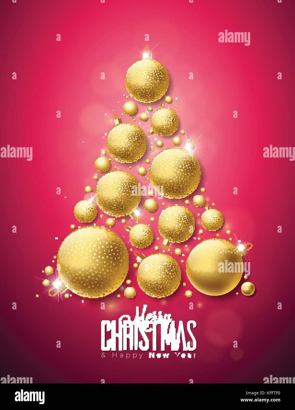 Vektor Frohe Weihnachten und guten Rutsch ins neue Jahr Abbildung ...