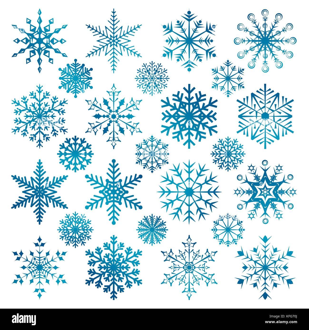Weihnachten Schneeflocken auf einem whirte Hintergrund Vektor ...