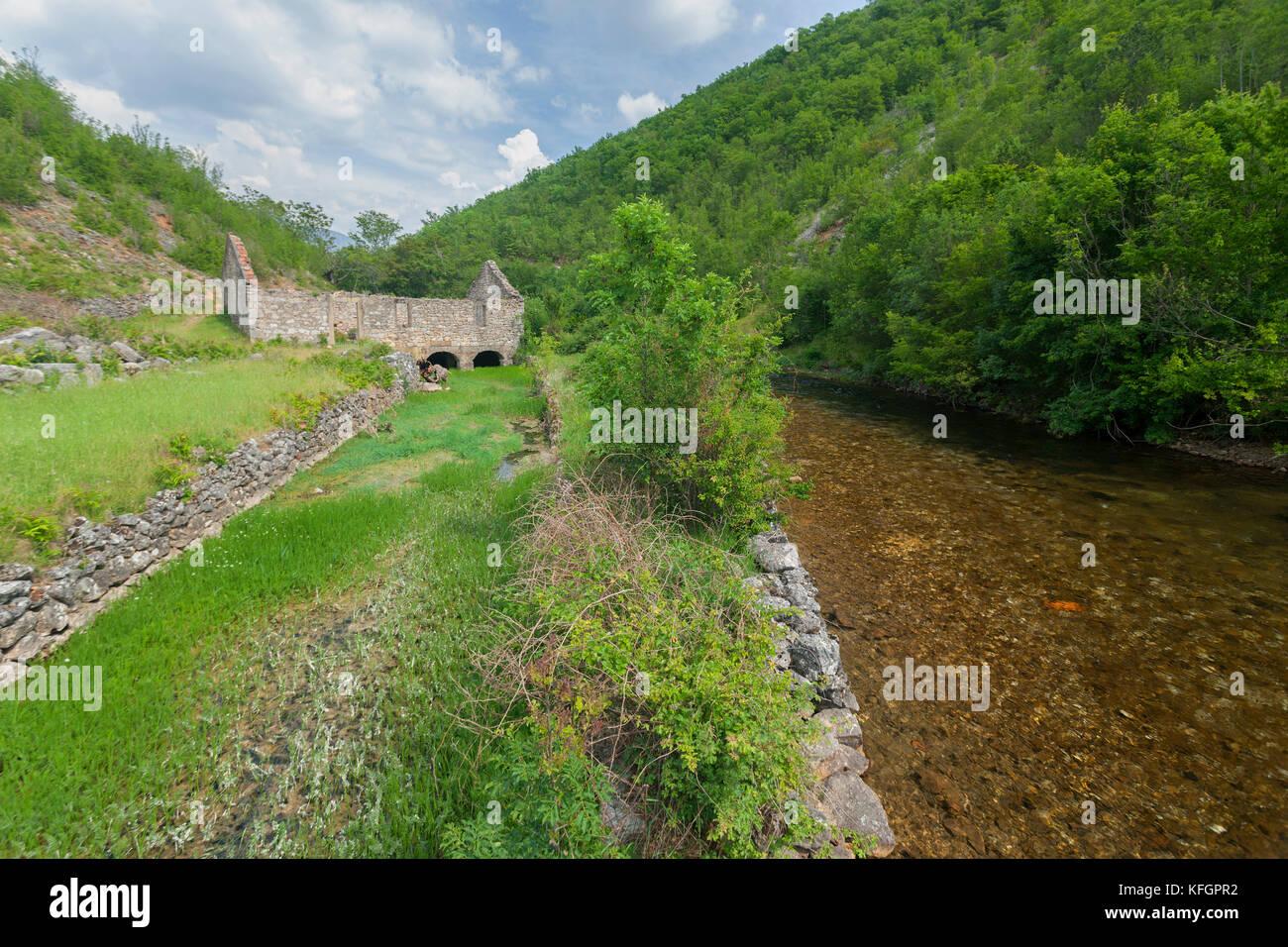 Fluss krcic in Kroatien Stockbild