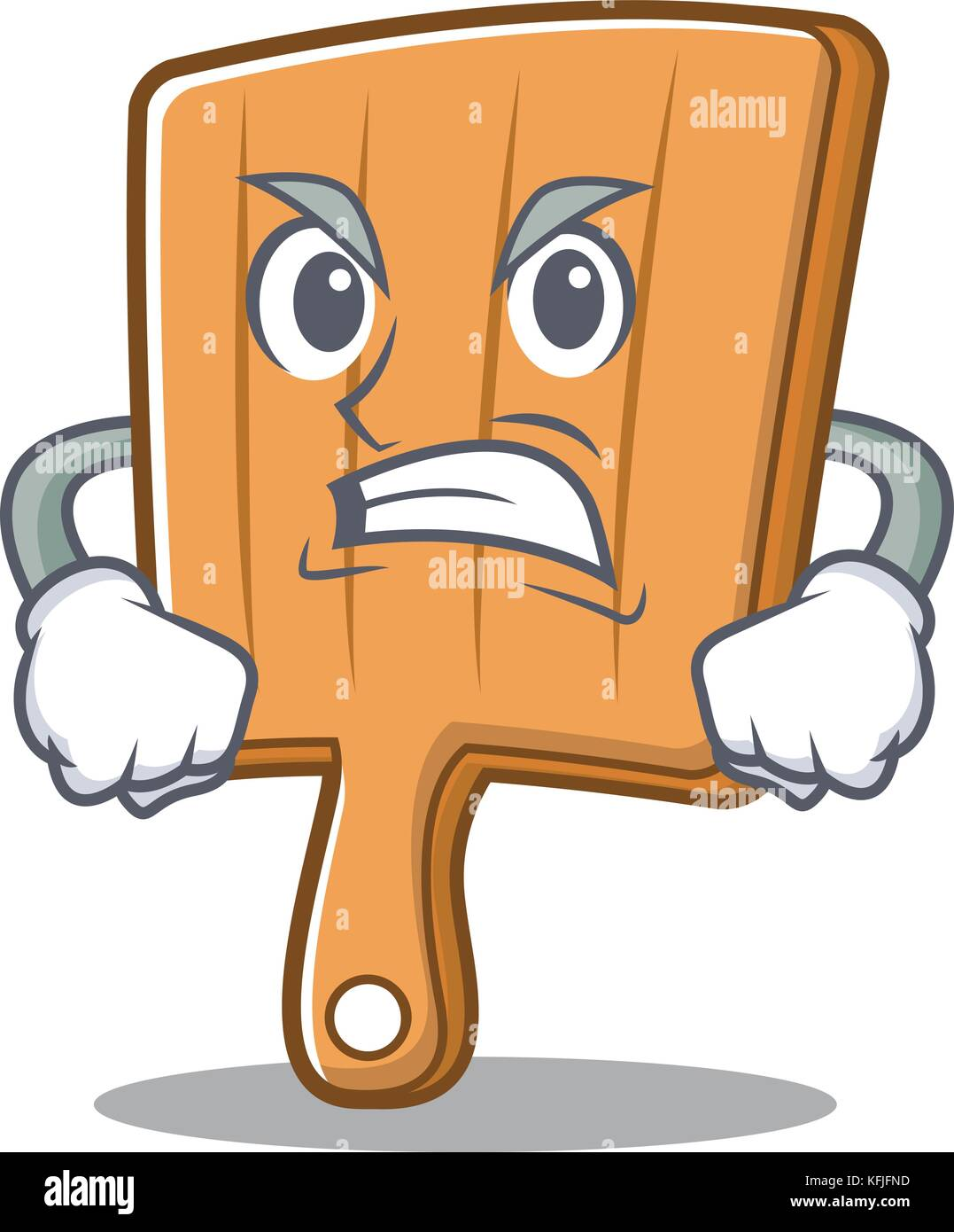 Wütend Küche bord Charakter Cartoon Vektor Abbildung - Bild ...