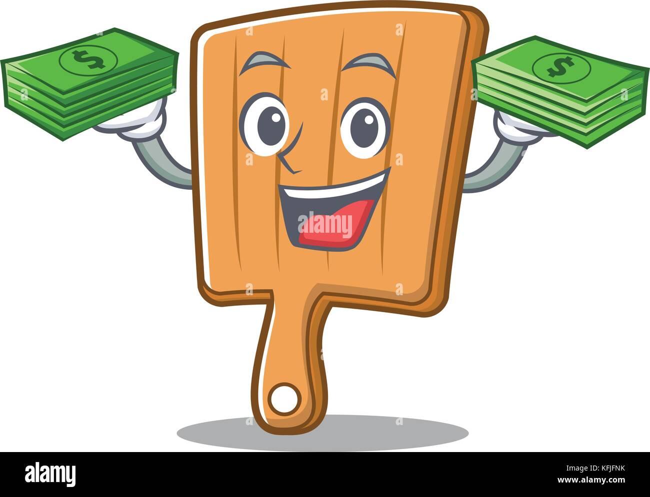 Mit Geld Küche bord Charakter Cartoon Vektor Abbildung - Bild ...