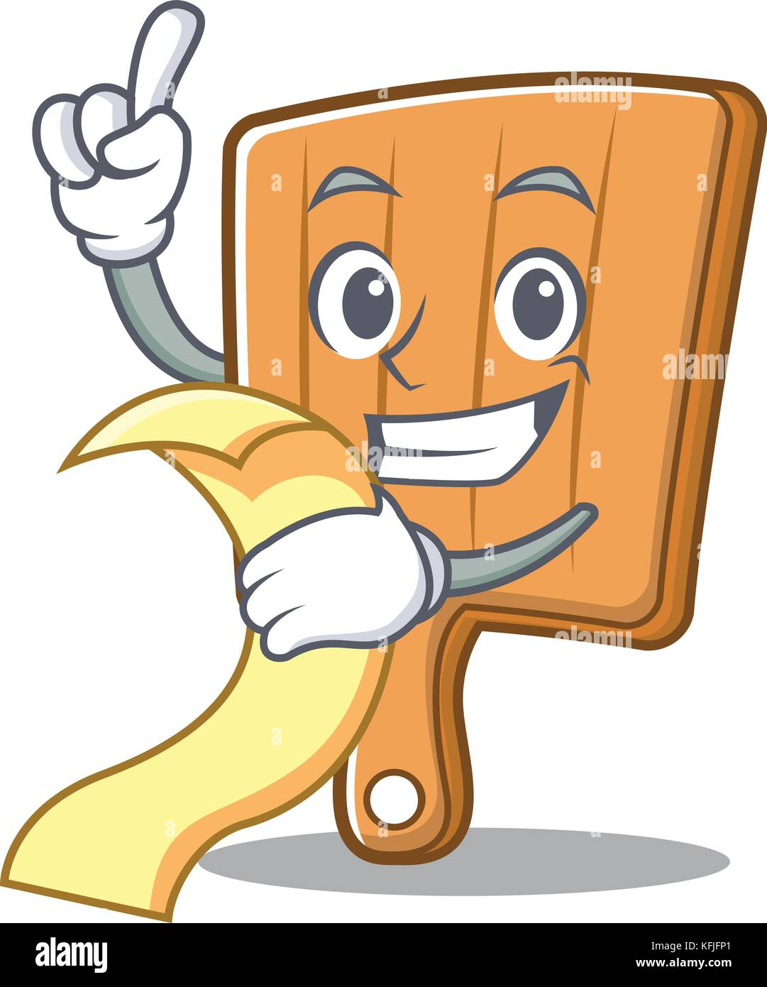 Mit menü Küche bord Charakter Cartoon Vektor Abbildung - Bild ...