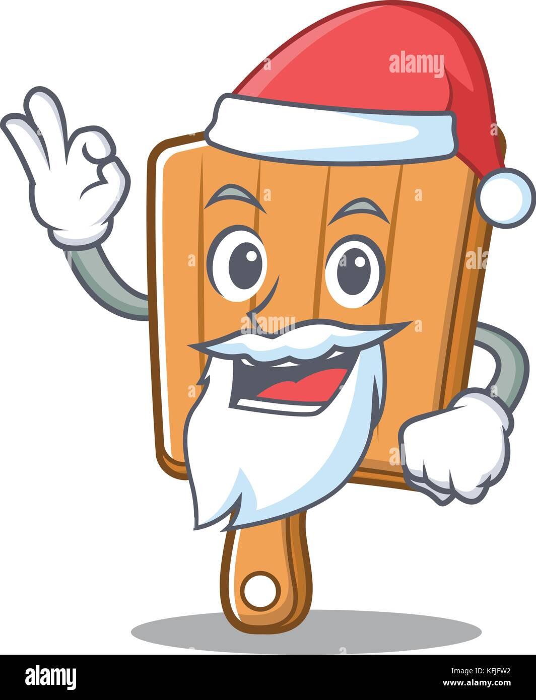 Santa Küche bord Charakter Cartoon Vektor Abbildung - Bild ...