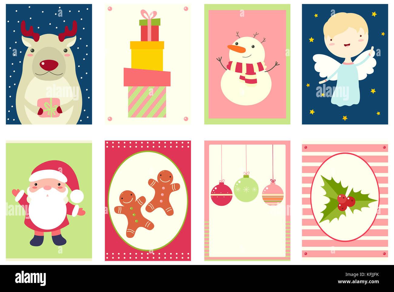 Satz von Weihnachten Banner, Hintergrund, Flyer, Plakat. xmas Poster ...
