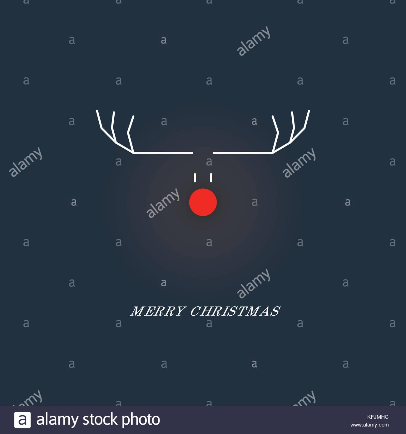 Minimalistischer lustige Weihnachtskarten Vorlage mit Rentier Symbol ...