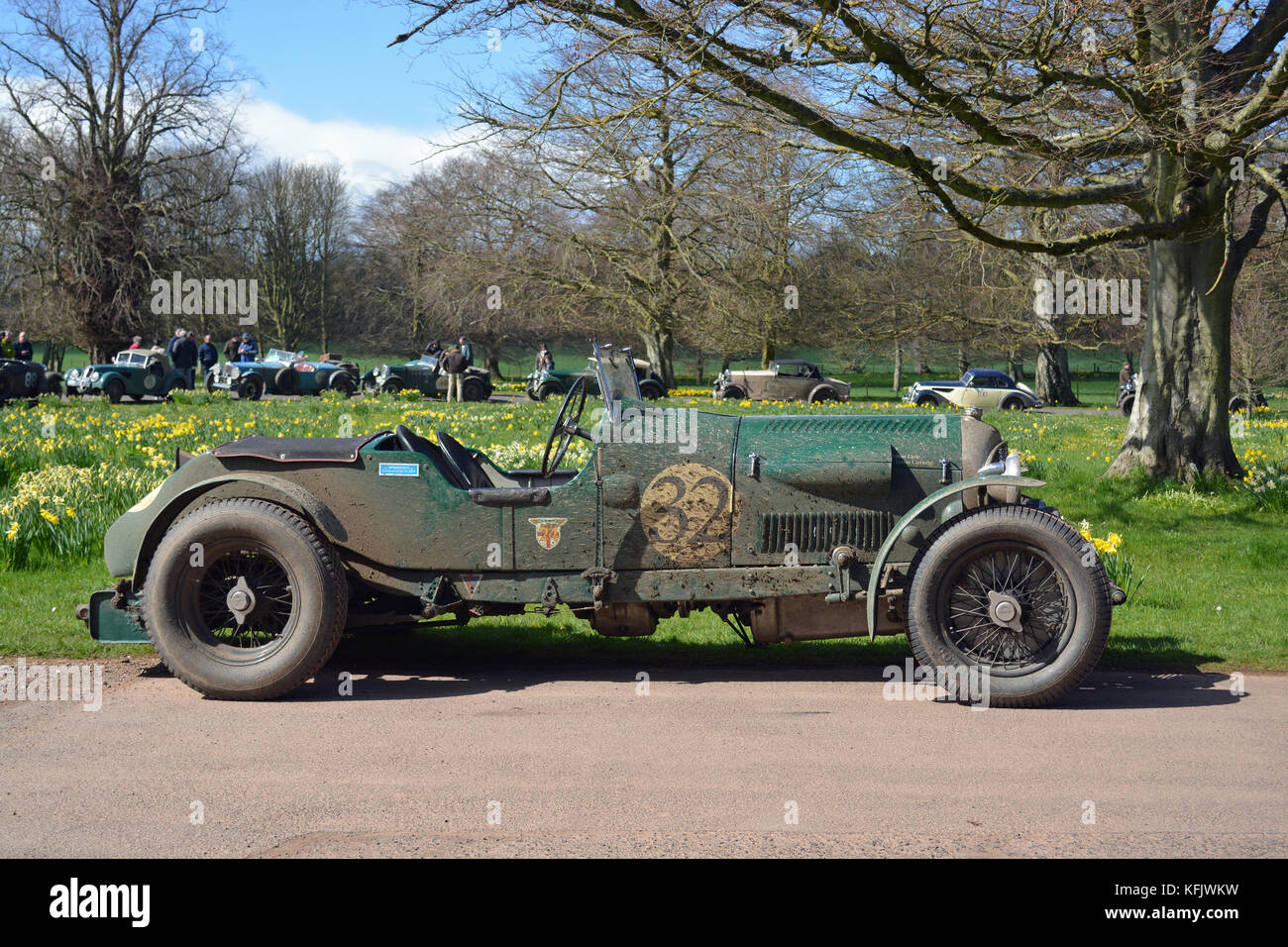 Flying Scotsman 2016-1930 Bentley ausführen Stockbild