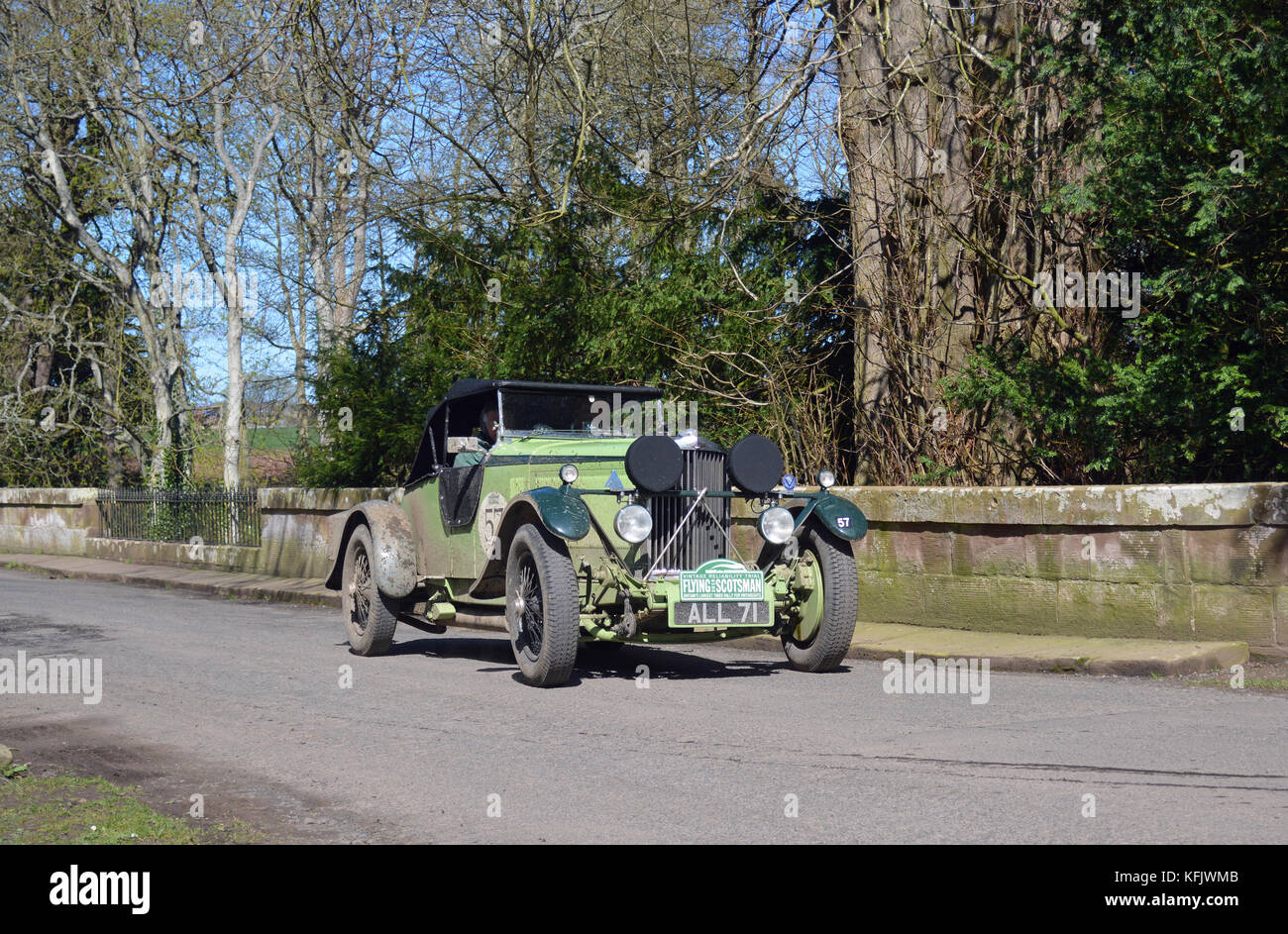 Flying Scotsman 2016-1933 Talbot av 105 super laufen Stockbild