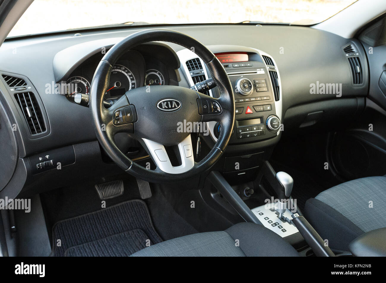 DNIPRO, UKRAINE - September 05, 2017: Kia Ceed, Interieur ...