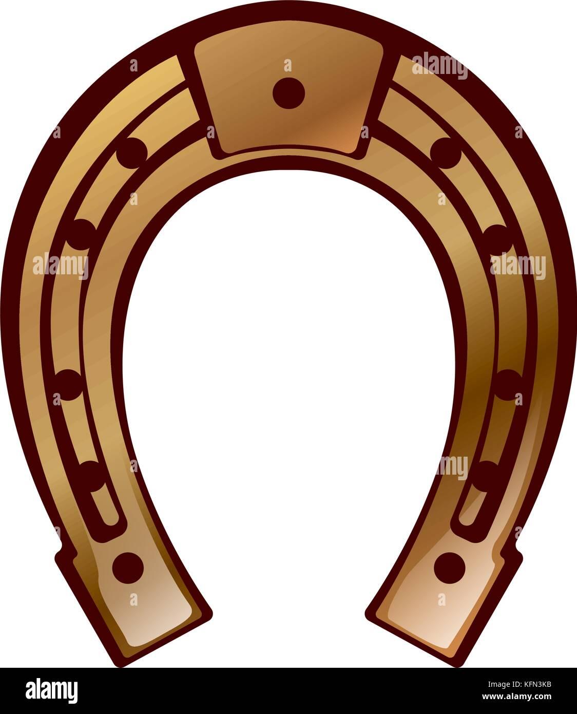 Glück - Hufeisen design Stockbild