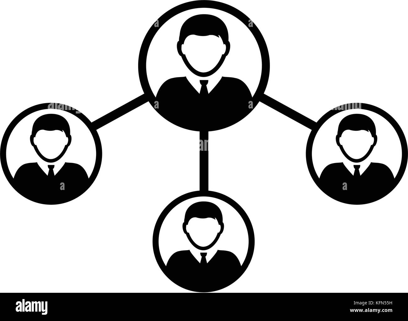 Menschen Netzwerk soziale Verbindung Symbol Vektor männliche Person ...