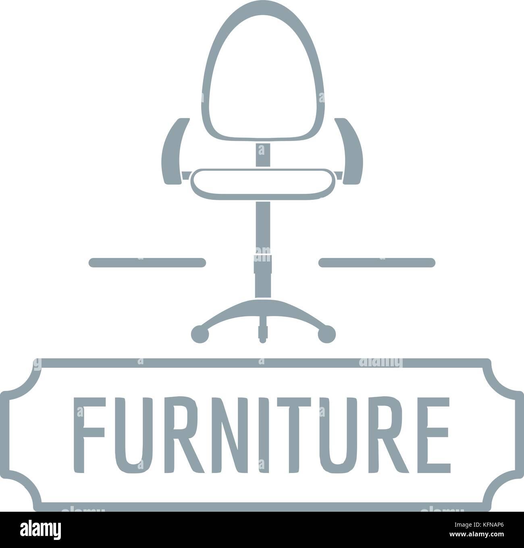 Stuhl Home Logo Einfachen Grauen Stil Vektor Abbildung Bild