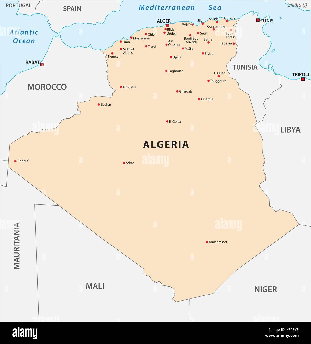 Map Algeria Tunisia Stockfotos & Map Algeria Tunisia Bilder ...