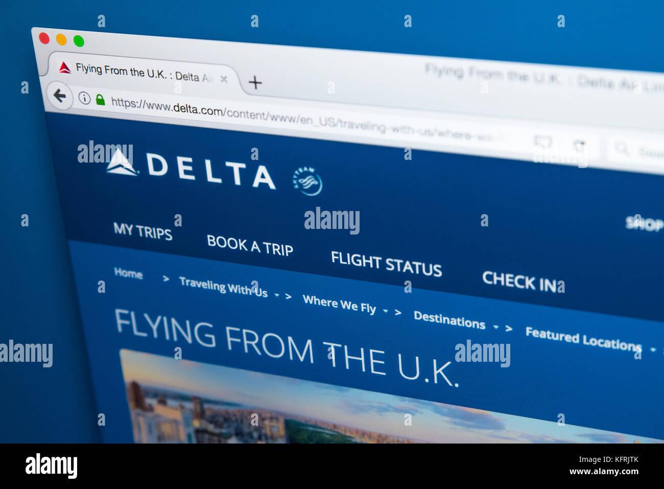 Delta weiße Webseite