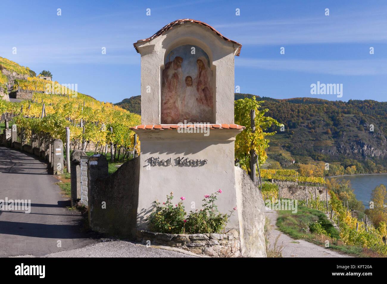 Ein marterl (bildstock) in die Wachau, Niederösterreich Stockbild
