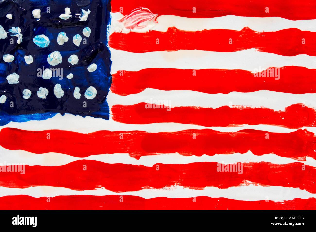 Nett Amerikanische Flagge Färbung Seite Galerie - Malvorlagen Von ...