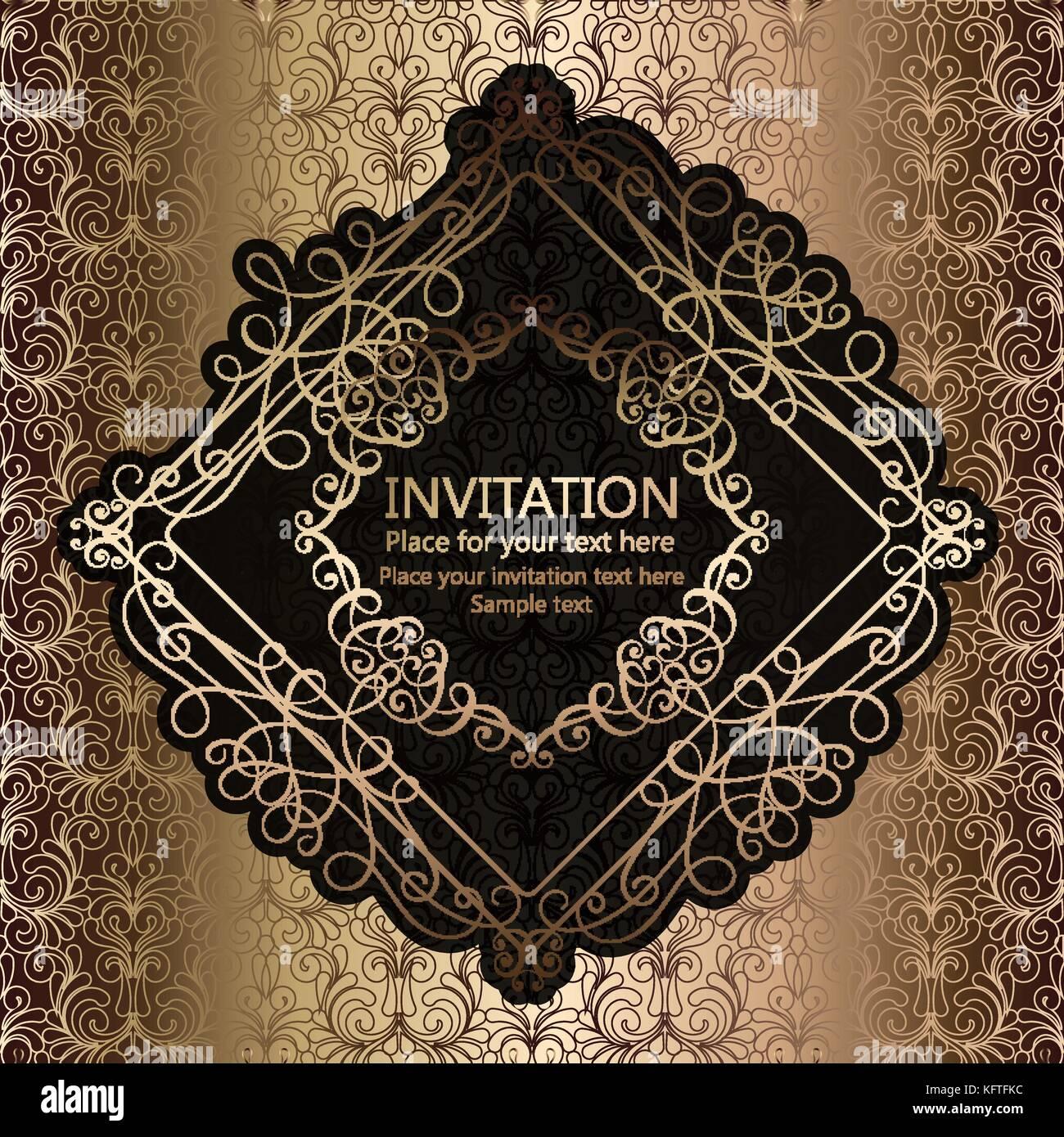 Zusammenfassung Hintergrund mit Kalligrafischen Luxus gold blüht und ...