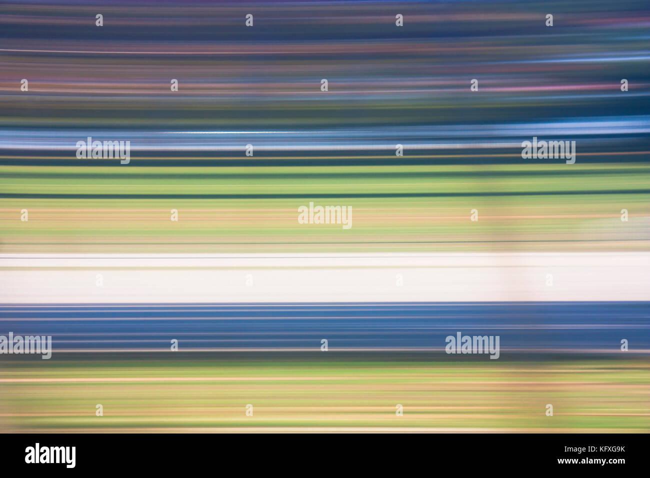 Abstrakte blurry weich und glatt bunte Linien im Zeitraffer Stockbild