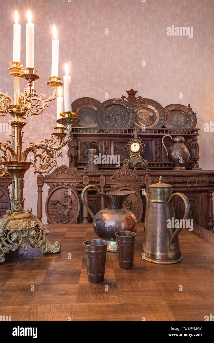 Teil der antike Küche Interieur im traditionellen belgischen Stil ...