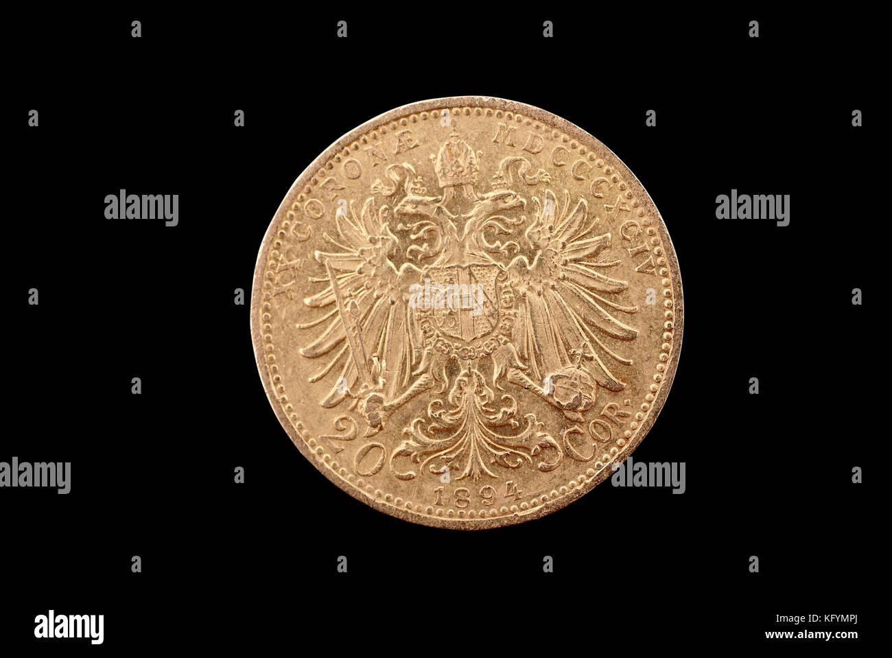 österreich Ungarn Antike Goldmünze Franz Josef 20 Krone 1894