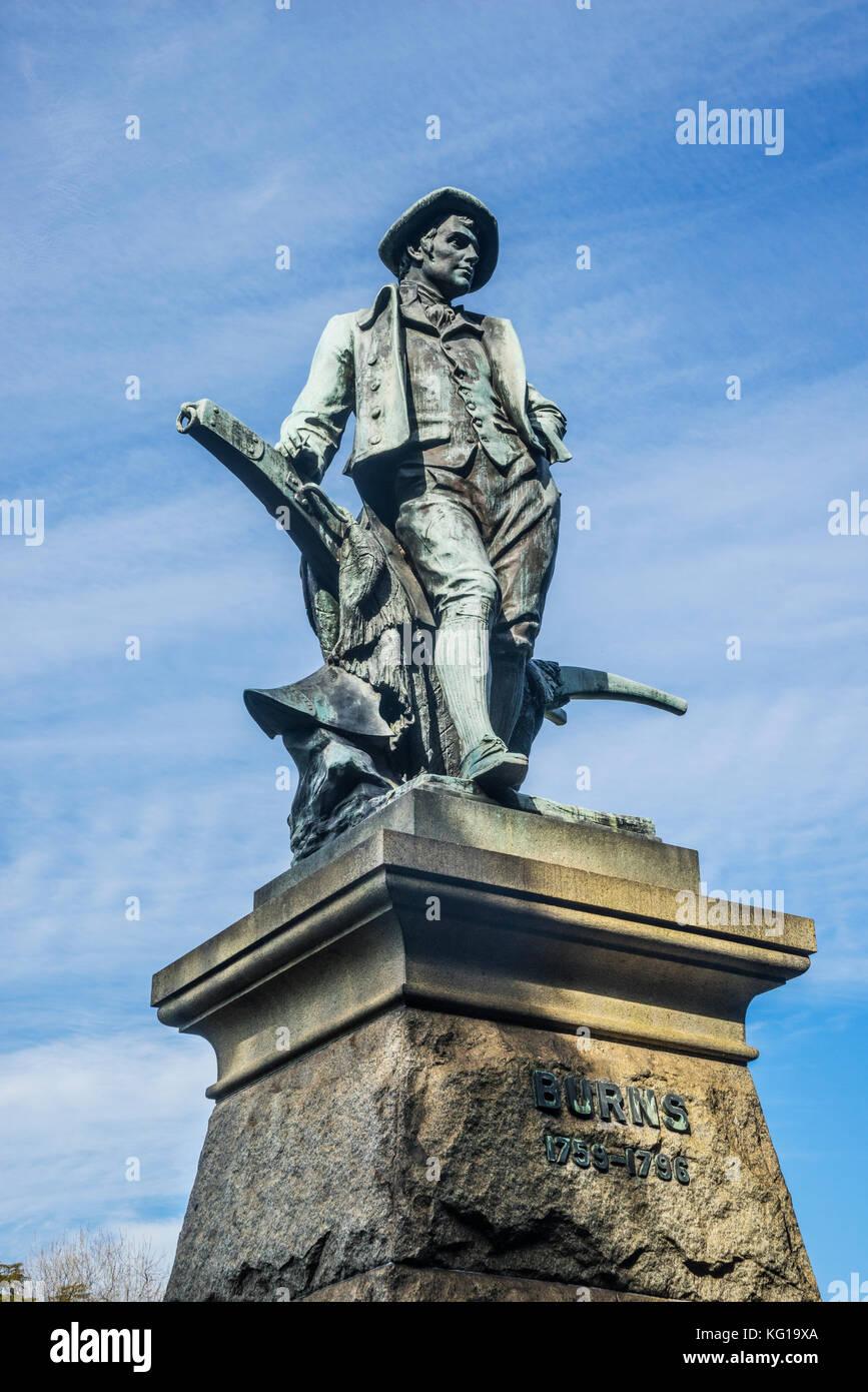 Australien, New South Wales, Sydney, Bronze Statue Denkmal des schottischen Dichters Robert Burns im Sydney Domäne Stockbild