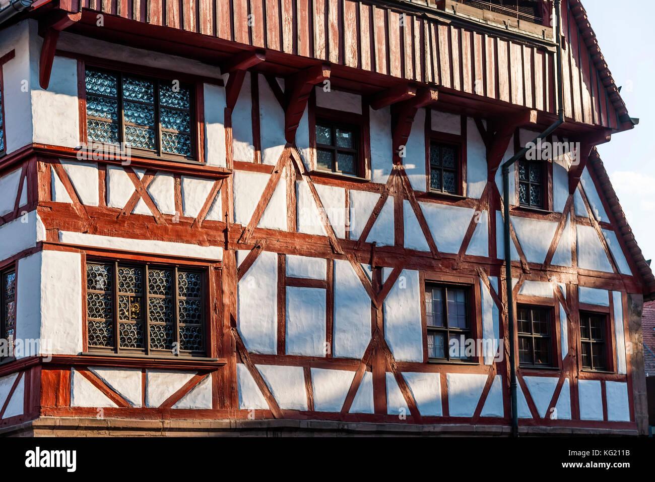 Nürnberg, Mittelfranken, Bayern, Deutschland: Albrecht Dürer Haus Stockbild