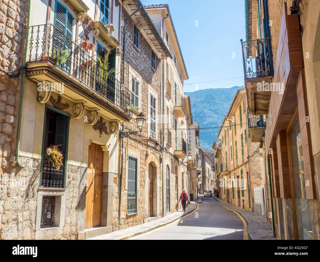 Soller, Mallorca, Balearen, Spanien, Mittelmeer, Europa Stockbild