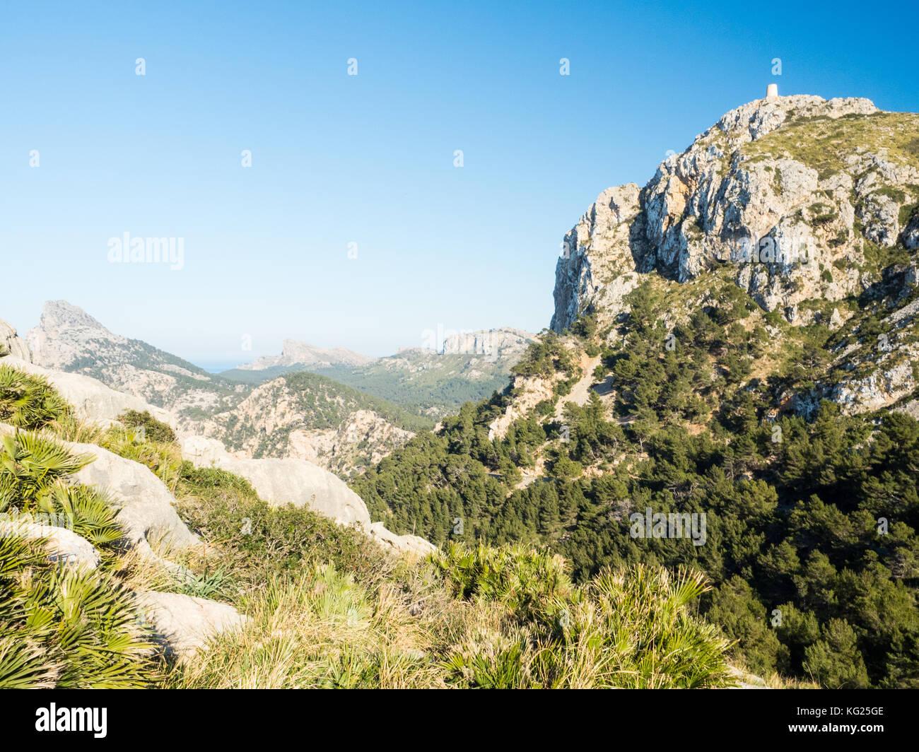 Cap de Formentor, Mallorca, Balearen, Spanien, Europa Stockbild