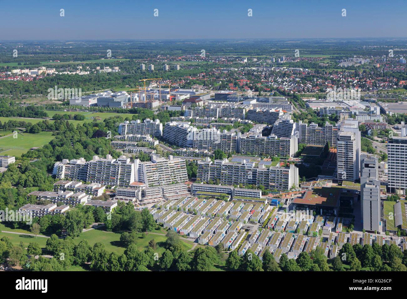 Olympisches Dorf, München, Bayern, Deutschland, Europa Stockbild