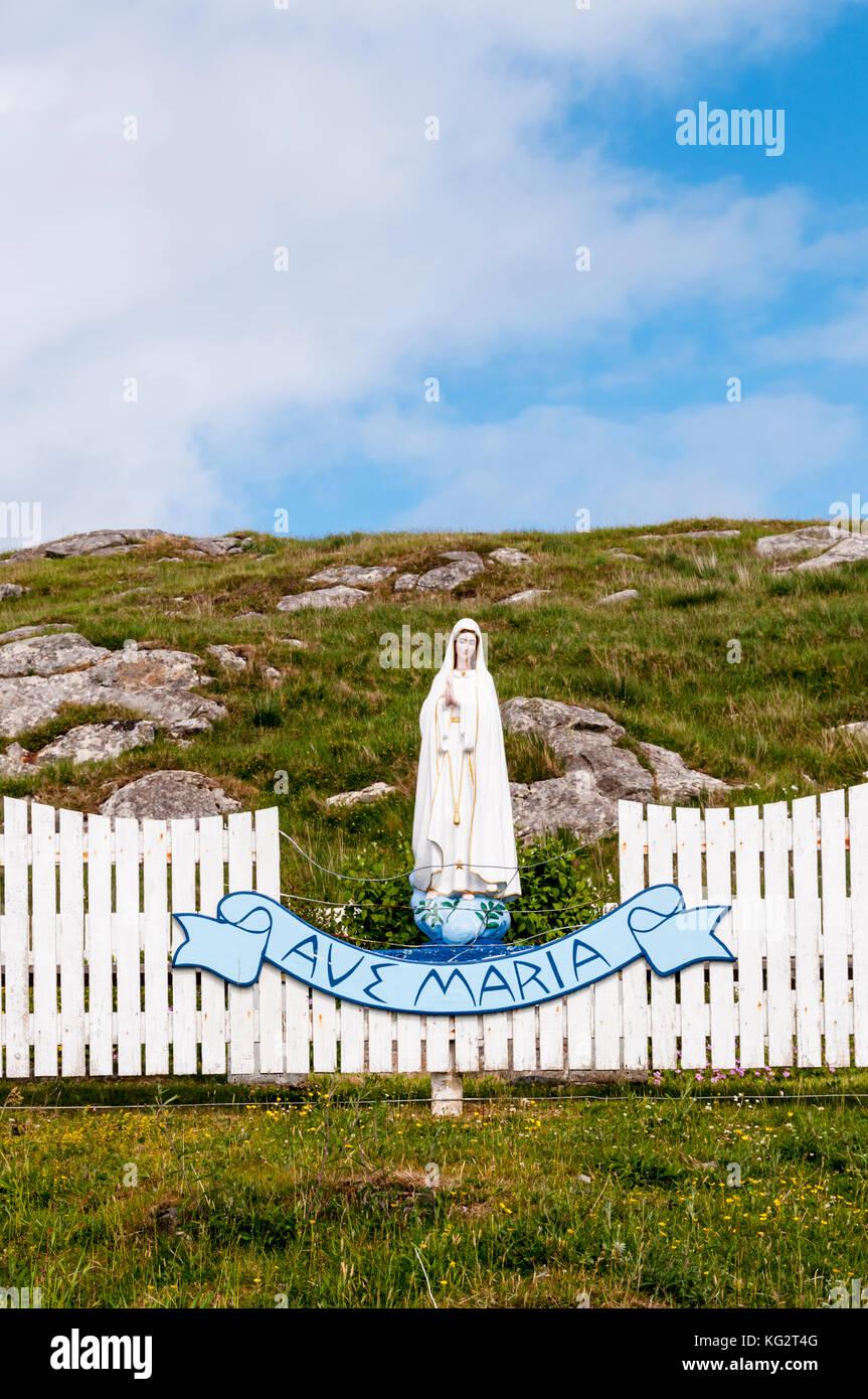 Am Straßenrand Heiligtum auf der Insel Eriskay in der Äußeren Hebriden Stockbild