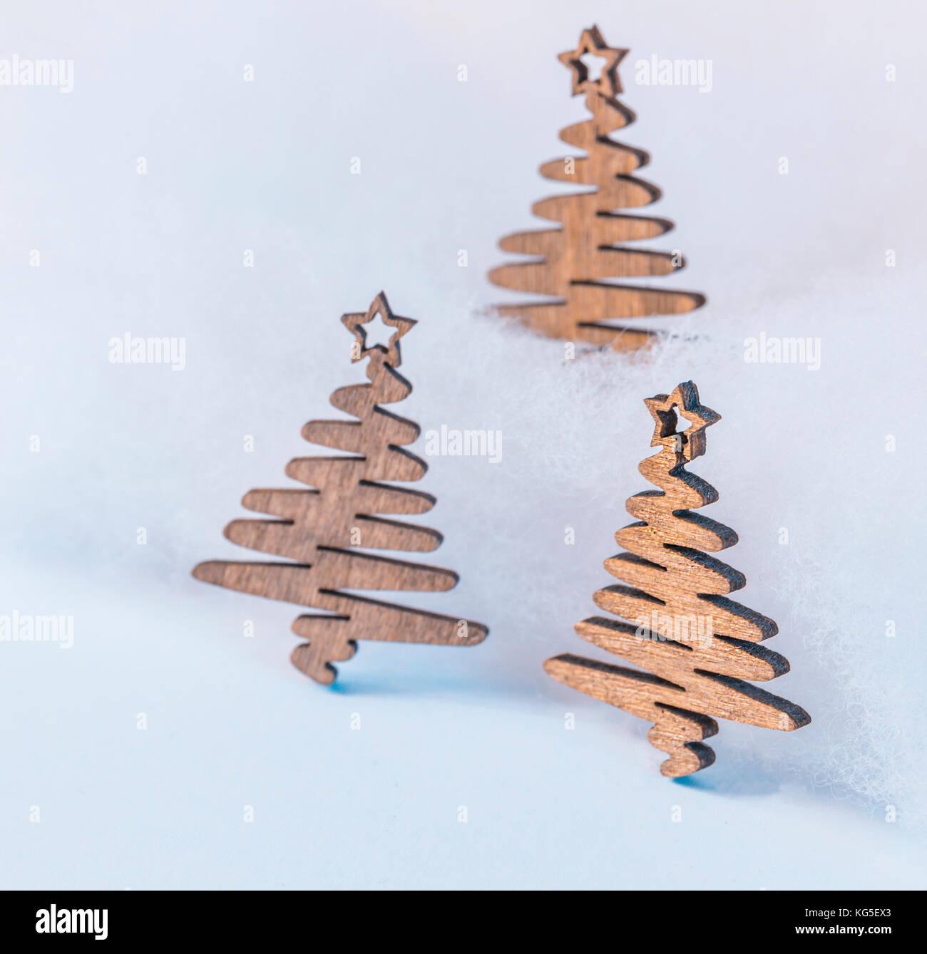 Weihnachten Motiv mit Holzfiguren - Platz für Text Stockfoto