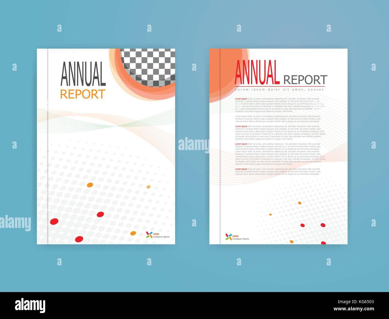Abbildung: orangefarbene Abdeckung Jahresbericht Broschüren Flyer ...