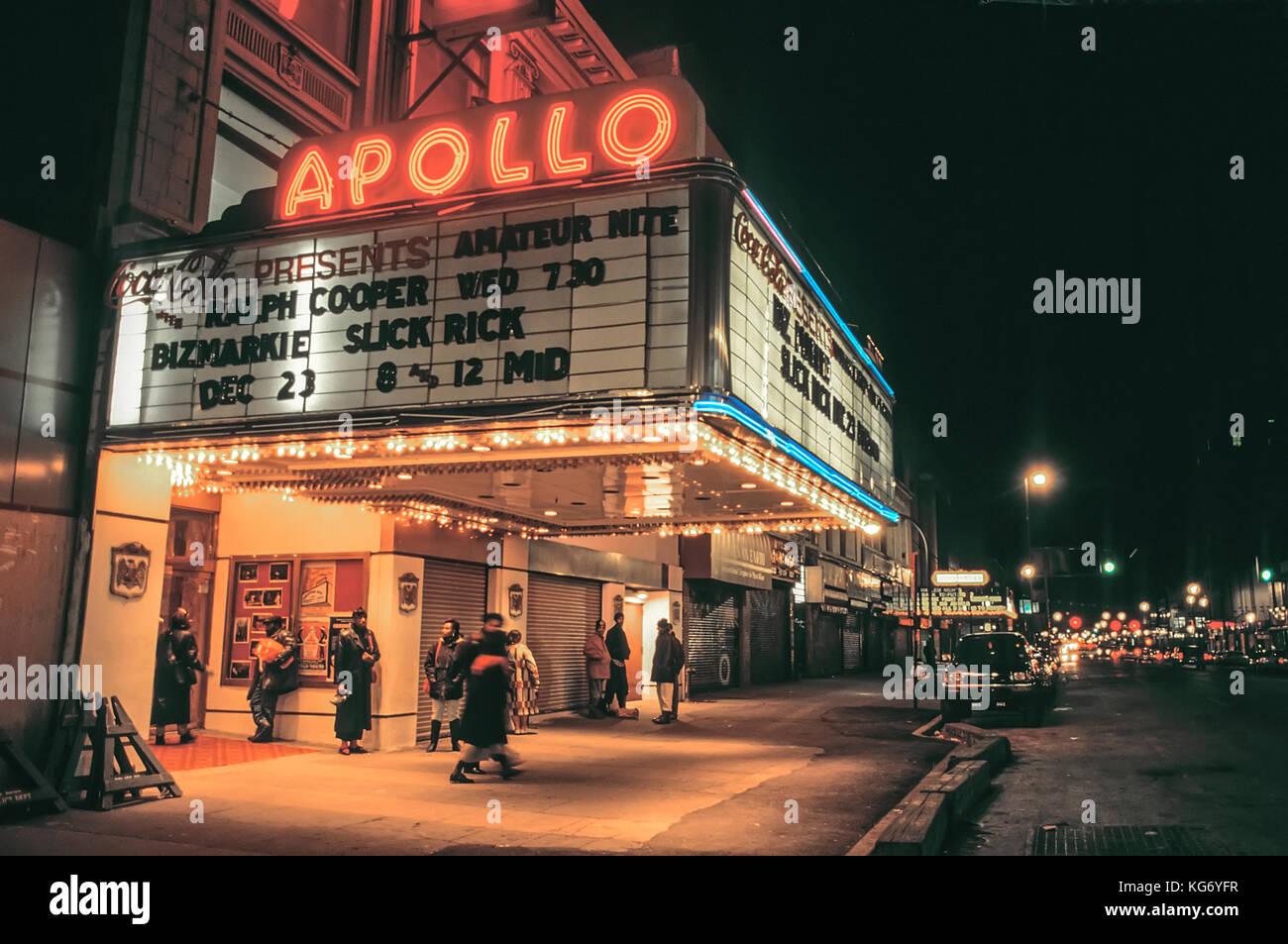Legendäre Apollo Theater an der 110. Straße, New York, im Herzen von Harlem. Stockbild