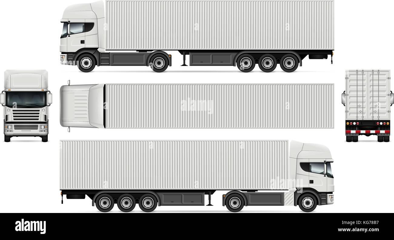 Vector Truck mit container Vorlage für Werbung, Corporate Identity ...