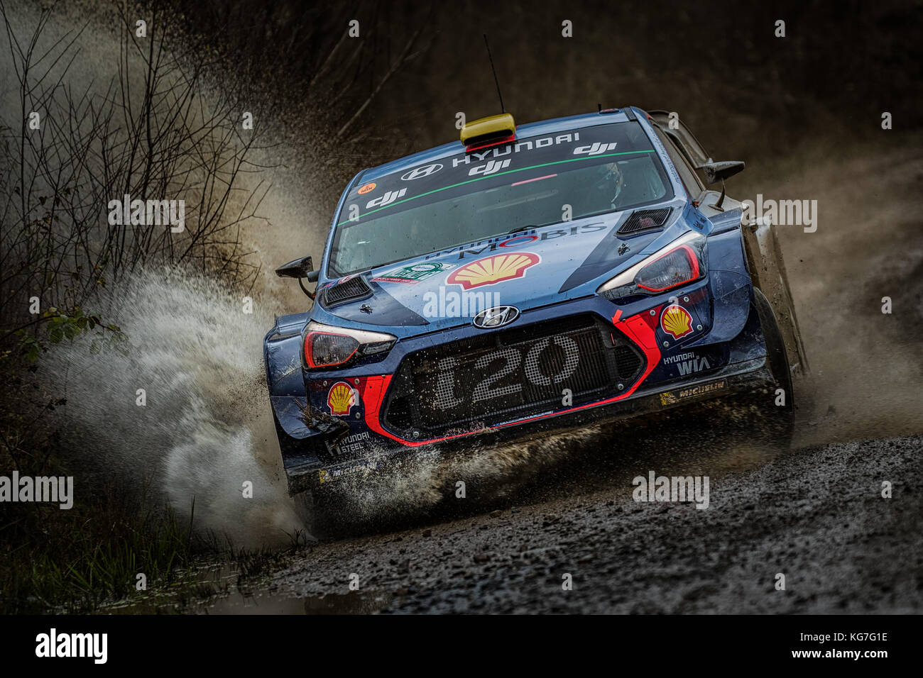 Andreas Mikkelsen Rallyes in der WRC World Rally Championship Tag versichern Wales Rally GB 2017 Stockbild