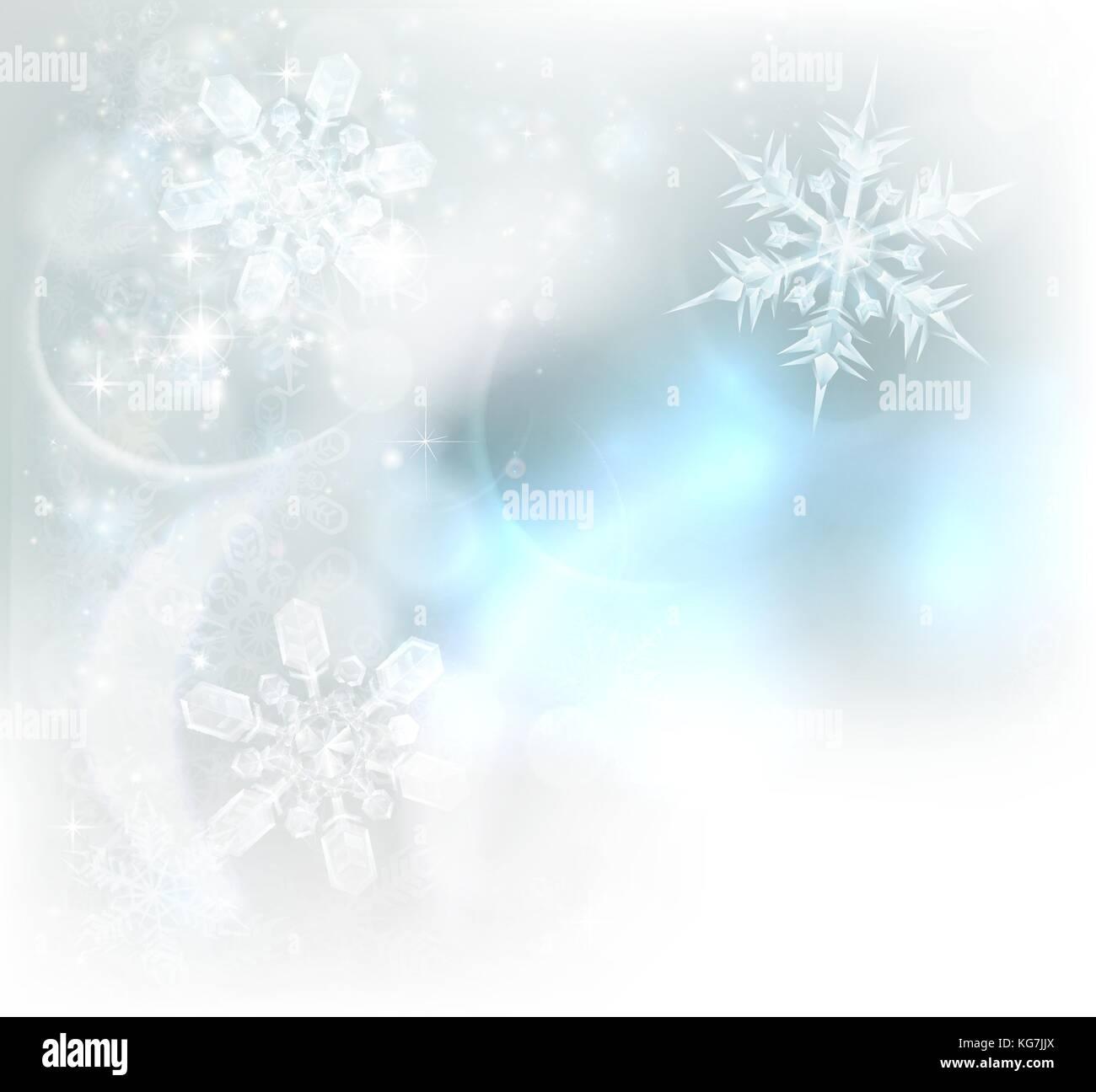 Weihnachten Schneeflocken Eiskristalle Hintergrund Vektor Abbildung ...